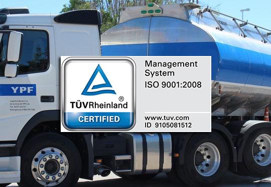Logística Diesel S.A. certificó ISO 9001:2008
