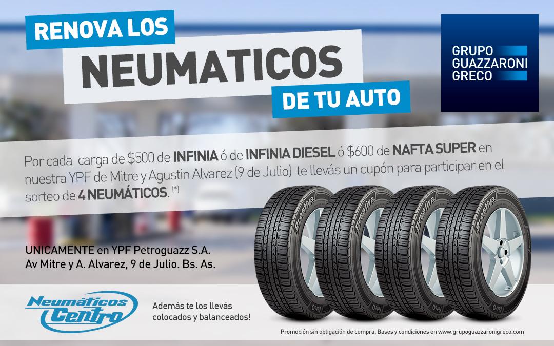 Renová los neumáticos de tu auto