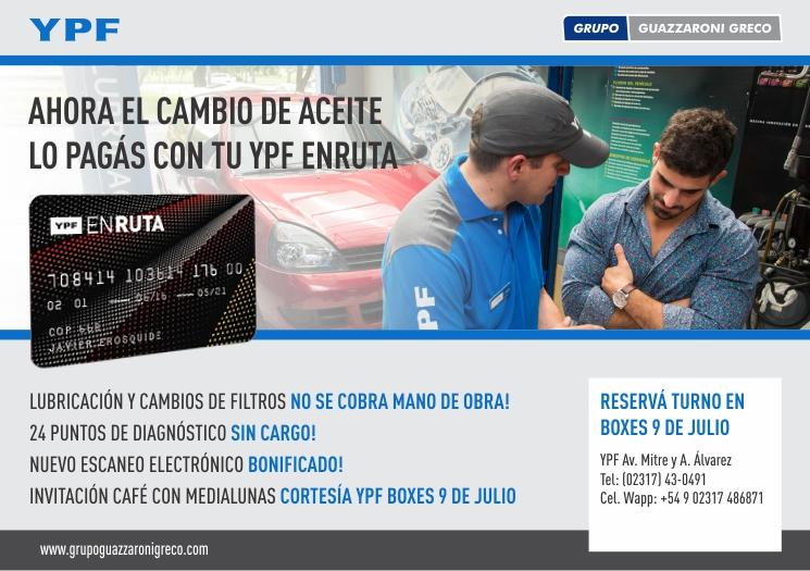 AHORA EL CAMBIO DE ACEITE LO PAGÁS CON TU YPF ENRUTA