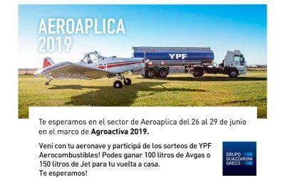 Aeroaplica en Agroactiva 2019