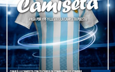Podes llevarte una camiseta Argentina YPF