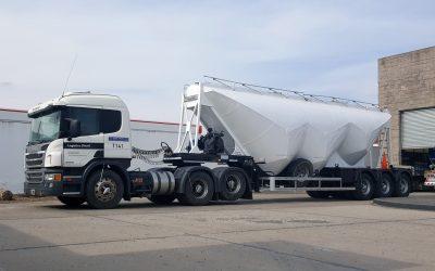 Nuevo servicio de Logística Diésel S.A. Transporte de cemento a granel