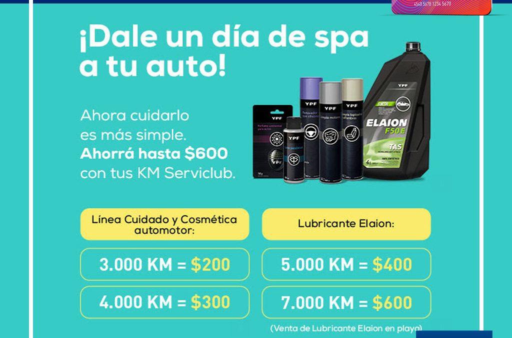 Canjeá Km Serviclub por productos de LÍNEA COSMÉTICA AUTOMOTOR Y LUBRICANTES ELAION