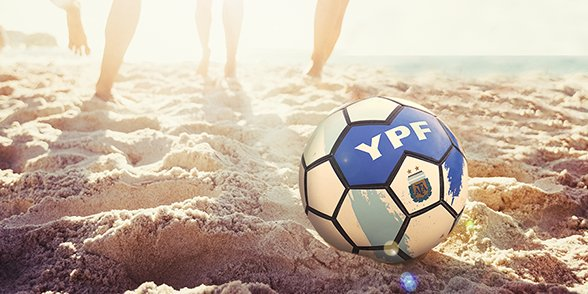 Pelota de Fútbol YPF Serviclub