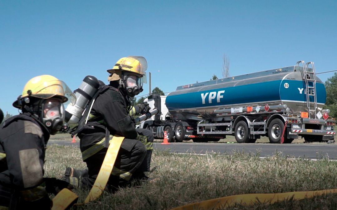 Video simulacro con unidad de Logística Diesel S.A.