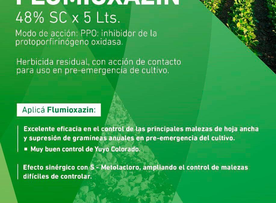 Herbicidas Metolacloro y Flumioxazin