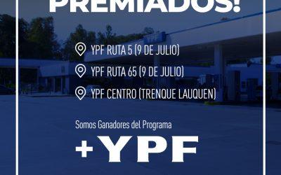 3 Estaciones ganadoras de +YPF