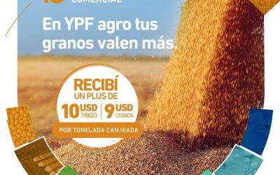 Sabías que en YPF Agro tus granos de Trigo y Cebada valen más?