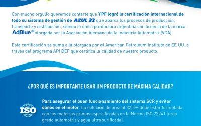 Reconocimiento Internacional para AZUL 32
